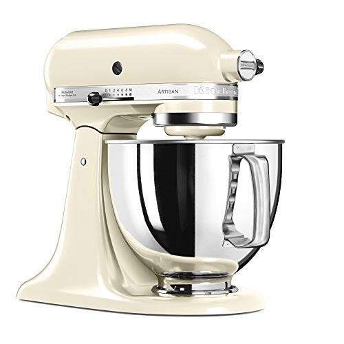 Robot pâtissier Kitchenaid 5KSM125EAC - Crème, 4.8 L, 300 W (314.99€ avec le code CADEAU1)