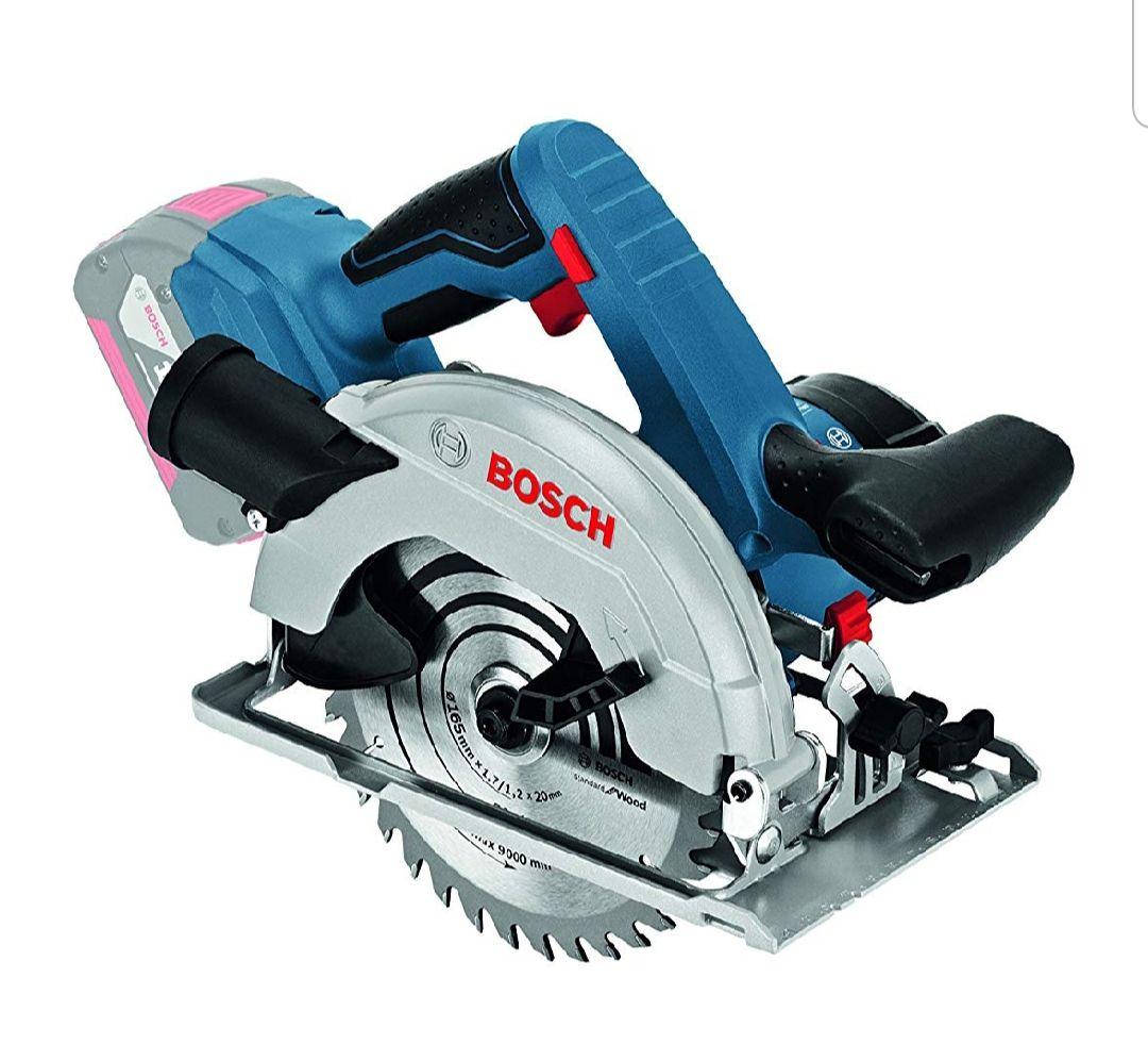 Scie Circulaire Electrique sans-fil Bosch Professional Click&Go 06016A2101 - GKS 18 V-57 G Solo, L-Boxx