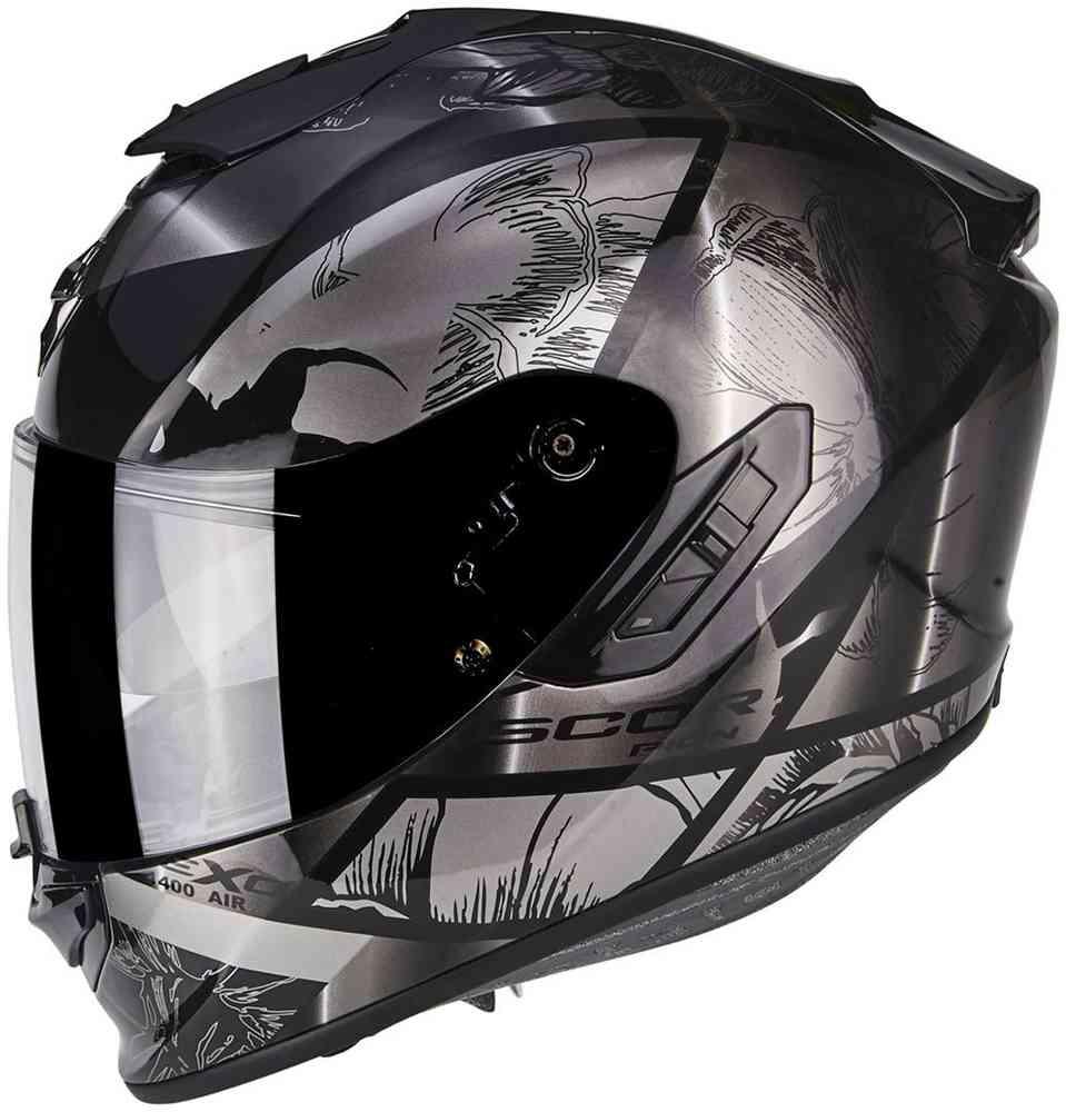Casque moto Scorpion Exo 1400 Air patch + tour de coup