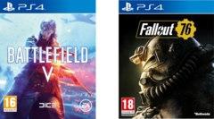 Pack Jeux Battlefield V + Fallout 76 sur PS4 (Frontaliers Suisse)