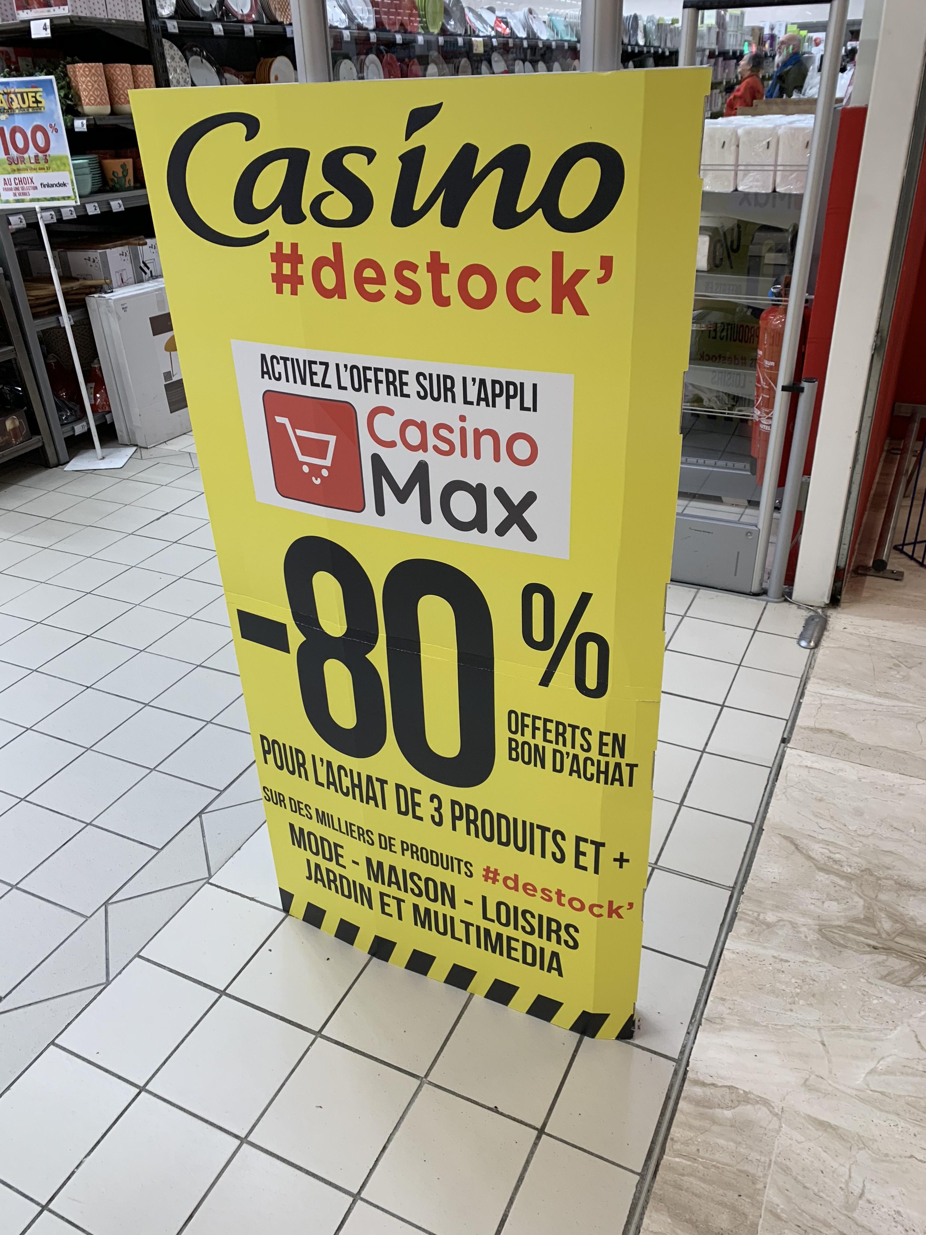 80% remboursés en bon d'achat dès 3 articles achetés parmi une sélection de produits (via Casino Max) - Saint-Grégoire (35)