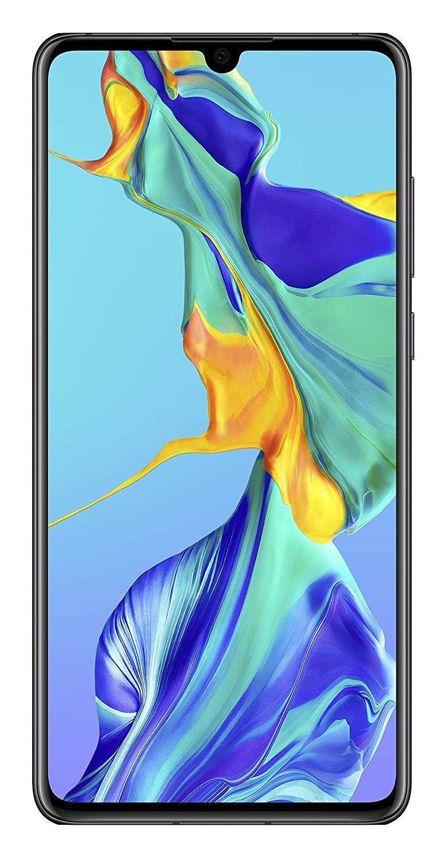 """Smartphone 6.1"""" Huawei P30 (full HD+, Kirin 980, 6 Go de RAM, 128 Go, noir) + bon d'achat de 100€"""
