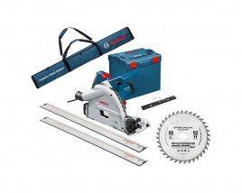 Scie plongeante Bosch Pro  GKT 55 GCE + 2 rails de 1600 + L-Boxx + 1 raccord de rail + sac pour rails + 2ème lame (toolnation.nl)