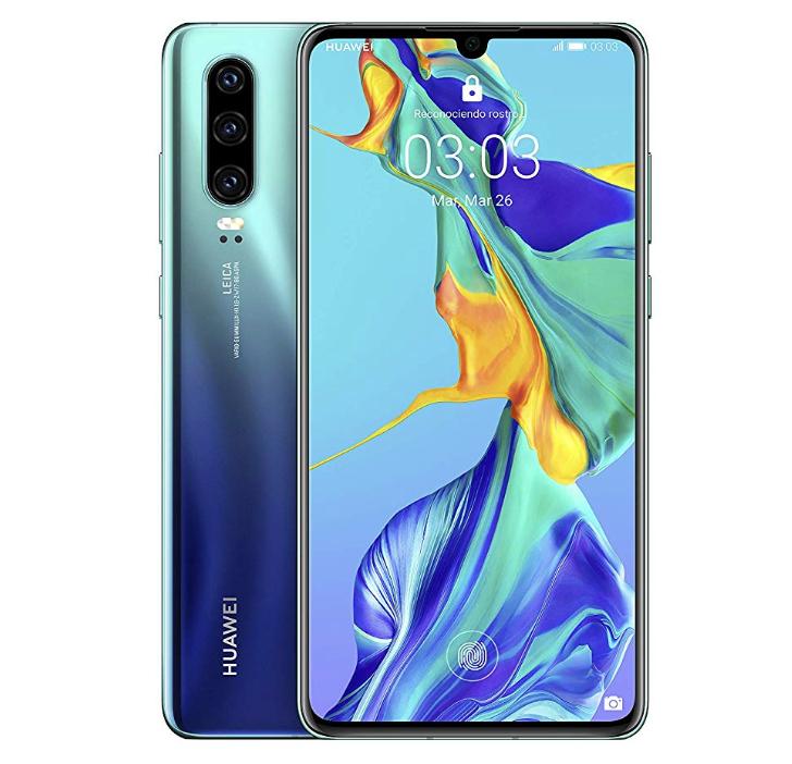 "Smartphone 6.1"" Huawei P30 - RAM 6Go, ROM 128 Go (Version Espagnole) - Aurora"