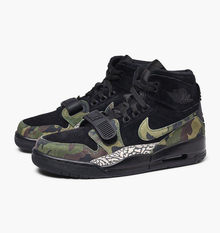 Baskets Nike Air Jordan Legacy 312 - Black / Camo green, taille du 42 au au 44.5