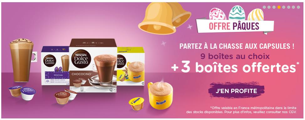 3 Boites de café Dolce Gusto offertes dès 9 boîtes achetées