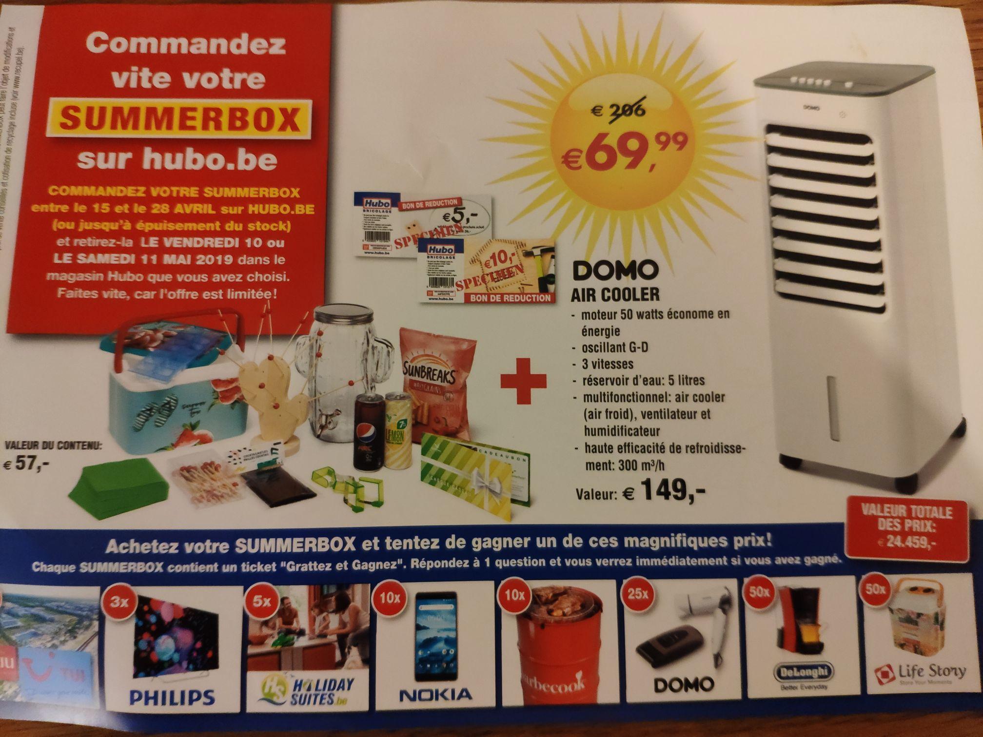 Summer Box (Ventilateur Domo + Ensemble d'articles) - Hubo (Frontaliers Belgique)