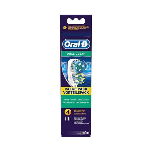 [Panier Plus] Pack de 4 brossettes de rechange pour brosse à dents électrique Oral-B Vitality Dual Clean