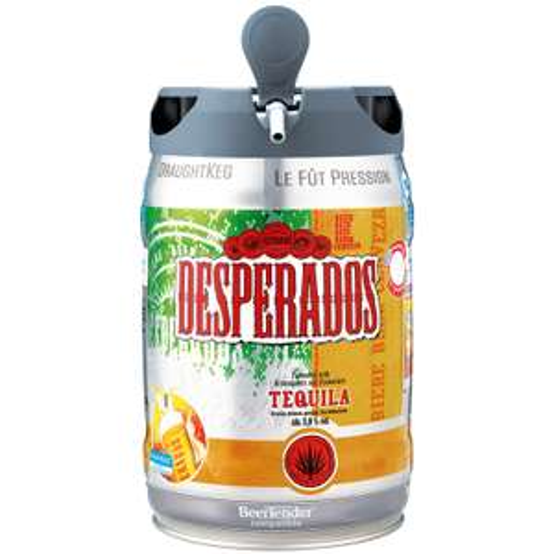 Fut de bière aromatisée à la tequila Desperados - 5L