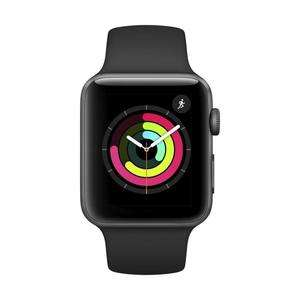 [CDAV] Montre connectée Apple Watch Série 3 GPS - Boîtier en aluminium gris sidéral avec bracelet sport noir (42 mm)