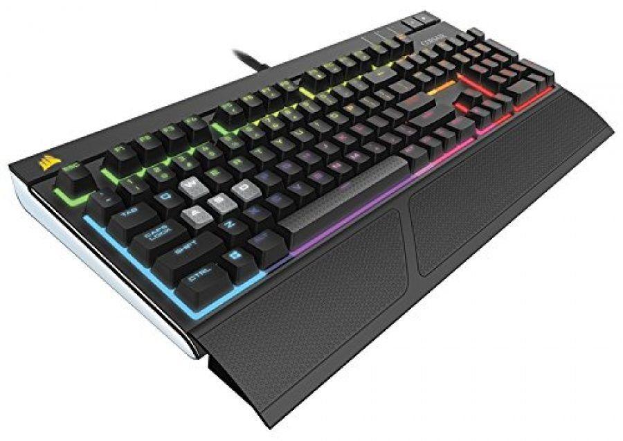Clavier gamer mécanique Corsair Strafe - Rétroéclairage RGB, Cherry MX Brown, AZERTY, Noir