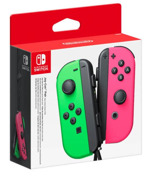 """Paire de manettes Joy-Con """"vert-néon / rose-néon""""  pour Nintendo Switch (Expert-Bening - Frontaliers Allemagne)"""
