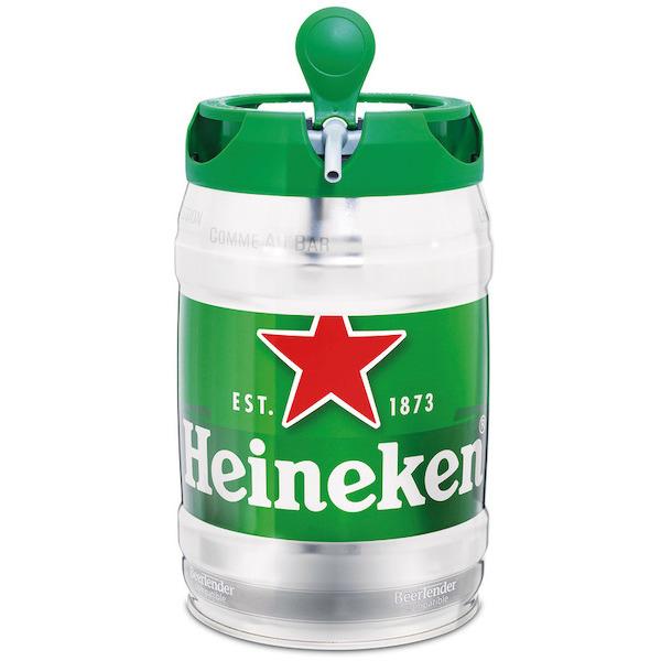 Lot de 2 Fûts de bière Heineken - 2 x 5 L