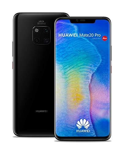 """Smartphone 6.39"""" Huawei Mate 20 Pro - double-SIM, QHD+, Kirin 980, 6 Go de RAM, 128 Go, Noir (Vendeur Tiers - Expédié par Amazon)"""
