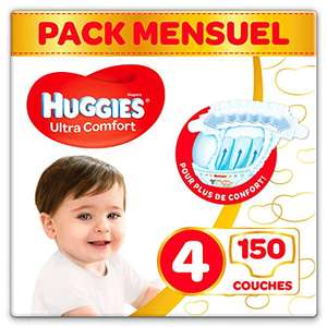 Pack de 150 couches Huggies Ultra Comfort - Taille 4 (7-18 kg)