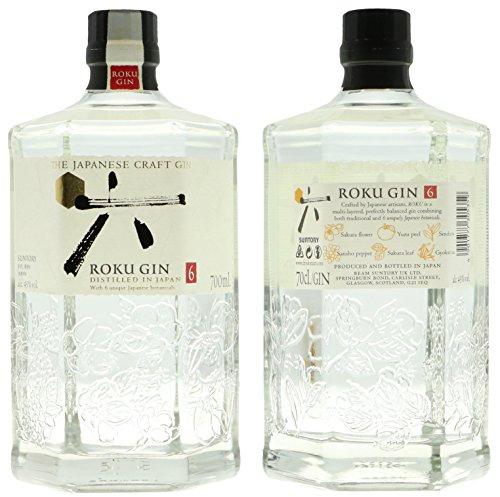 Bouteille de gin Japonais Roku - 70 cl