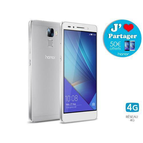 """Smartphone 5.2"""" Honor 7 16 Go (ODR de 50€) - Noir (mistery grey) +1Mois/sosh offert"""