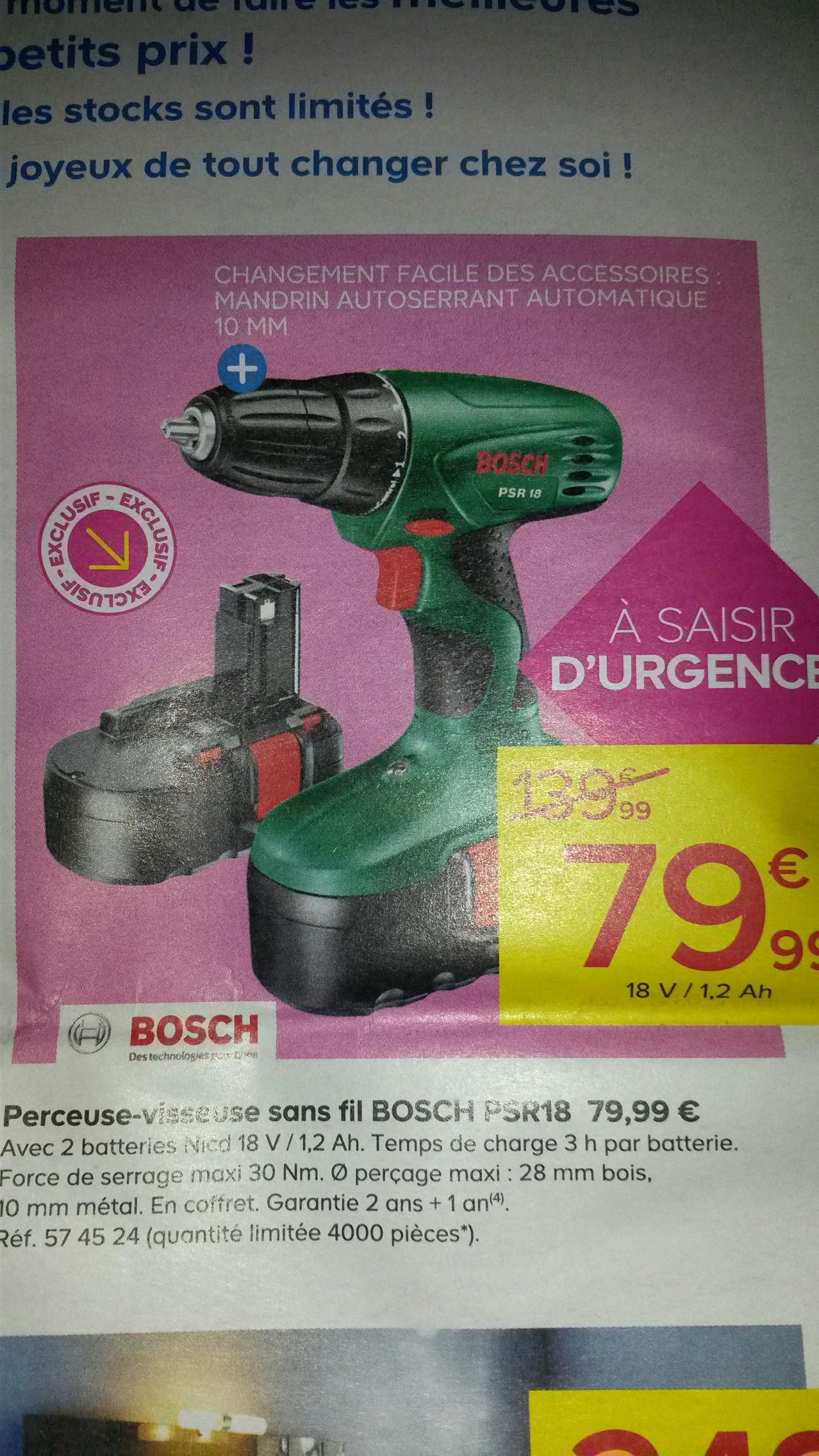 Perceuse visseuse sans fil Bosch PSR18