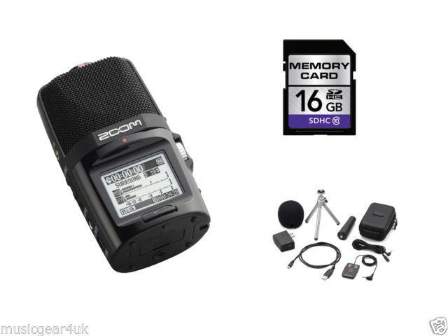 Enregistreur portable Zoom H2N + Kit d'accessoires + Carte SD 16Go