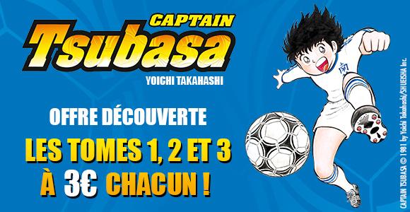 Manga Captain Tsubasa (Olive et Tom) - Tomes 1, 2 ou 3 à 3€ chacun (Glenat.com/Fnac/Amazon + Librairies participantes)