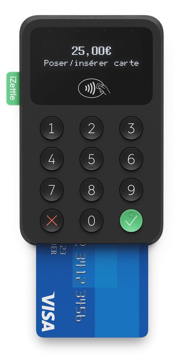 Terminal de paiement mobile iZettle Bluetooth, compatible Android et iOS (izettle.com)
