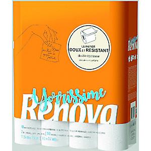 Paquet de 40 rouleaux de papier hygiénique Renova Yorrissime