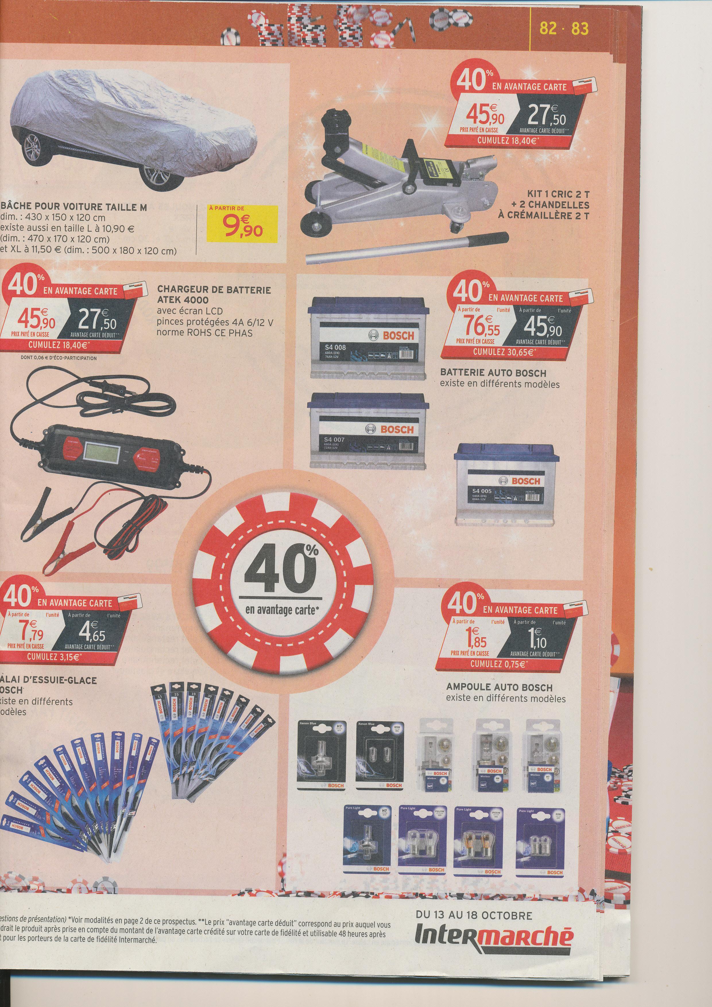 40% crédités sur la carte de fidélité sur une sélection de produits auto Bosch - Ex : Batterie Bosch S4