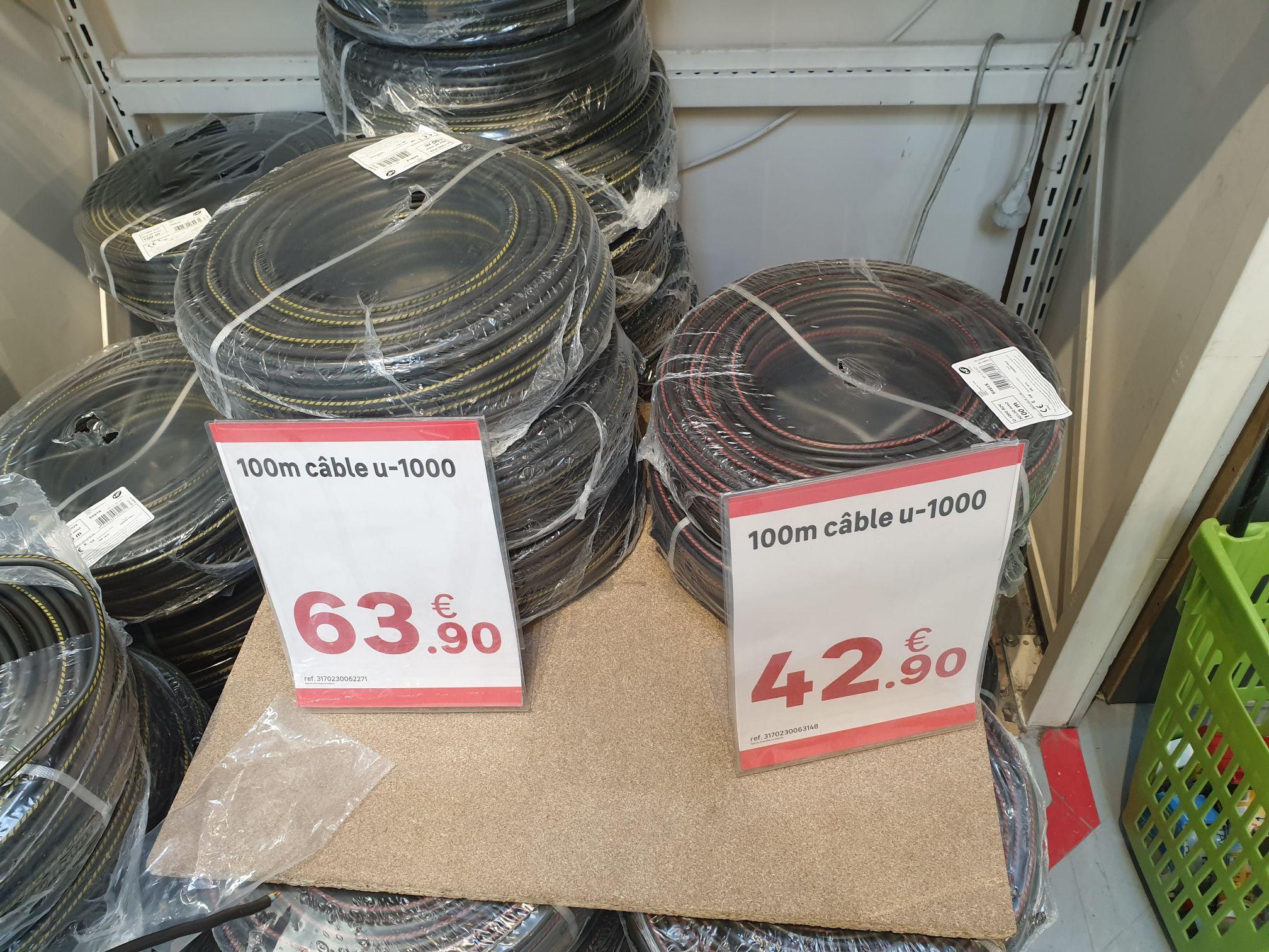 Câble U1000R2V 100m - 1.5mm2 à 42,9€ ou 2.5mm2 à 63,9€ - Nanterre (92)