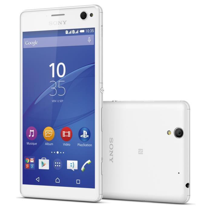 "Smartphone 5,5"" Sony Xperia C4 Dual Sim Blanc (100€ ODR)"