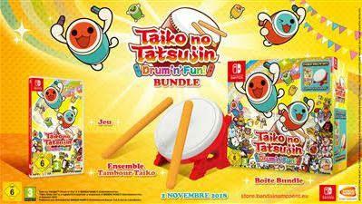 Taiko No Tatsujin : Bundle jeu + Tatacon sur Nintendo Switch (+5€ en SuperPoints)
