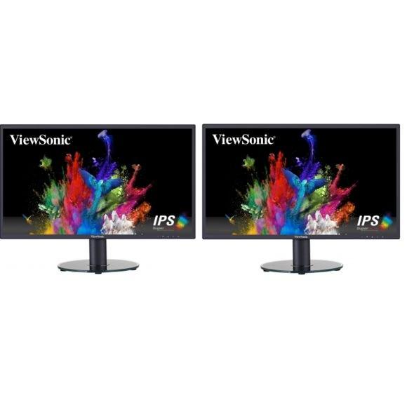 """Pack de 2 Écrans PC 24"""" Viewsonic VA2419-sh - Full HD, Dalle IPS"""
