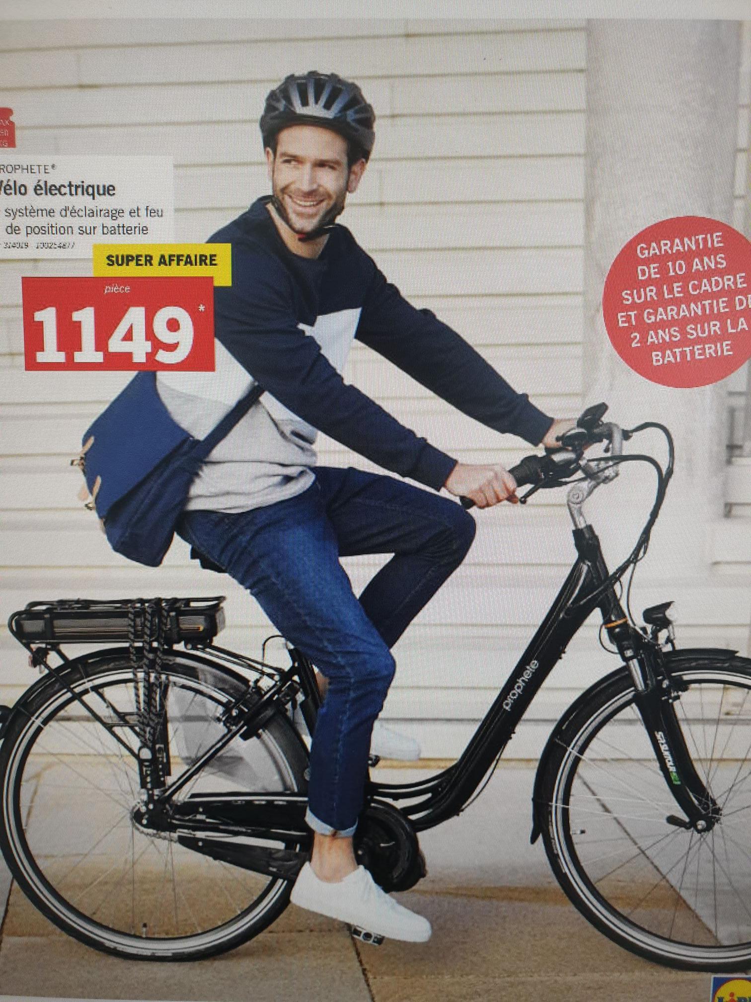 Vélo à assistance électrique Prophete - 250W (Frontaliers Luxembourg)