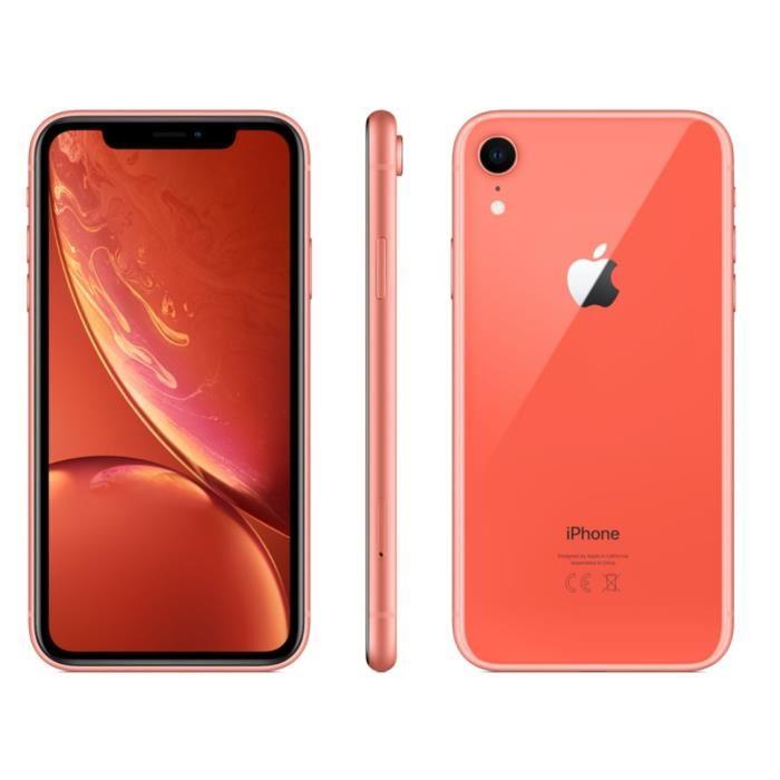 """[Cdiscount à volonté] Smartphone 6.1"""" Apple iPhone XR - 128 Go (Corail)"""