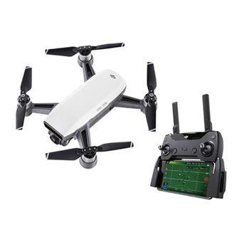 Drone quadricoptère DJI Spark Blanc + Radiocommande (Frontaliers Suisse)