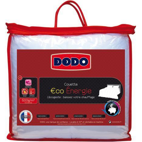 50% de réduction sur une sélection de couettes Dodo (300-350-500gr/m²) - Ex : 140 x 200 cm