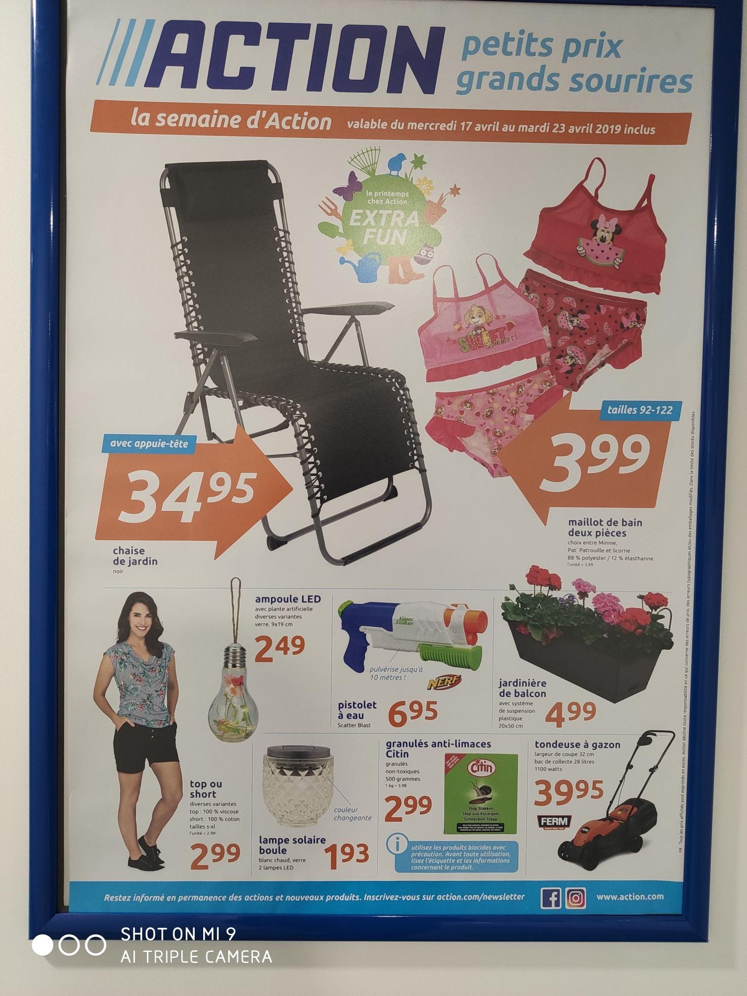 Sélection d'offres catalogue - Ex : Chaise de Jardin