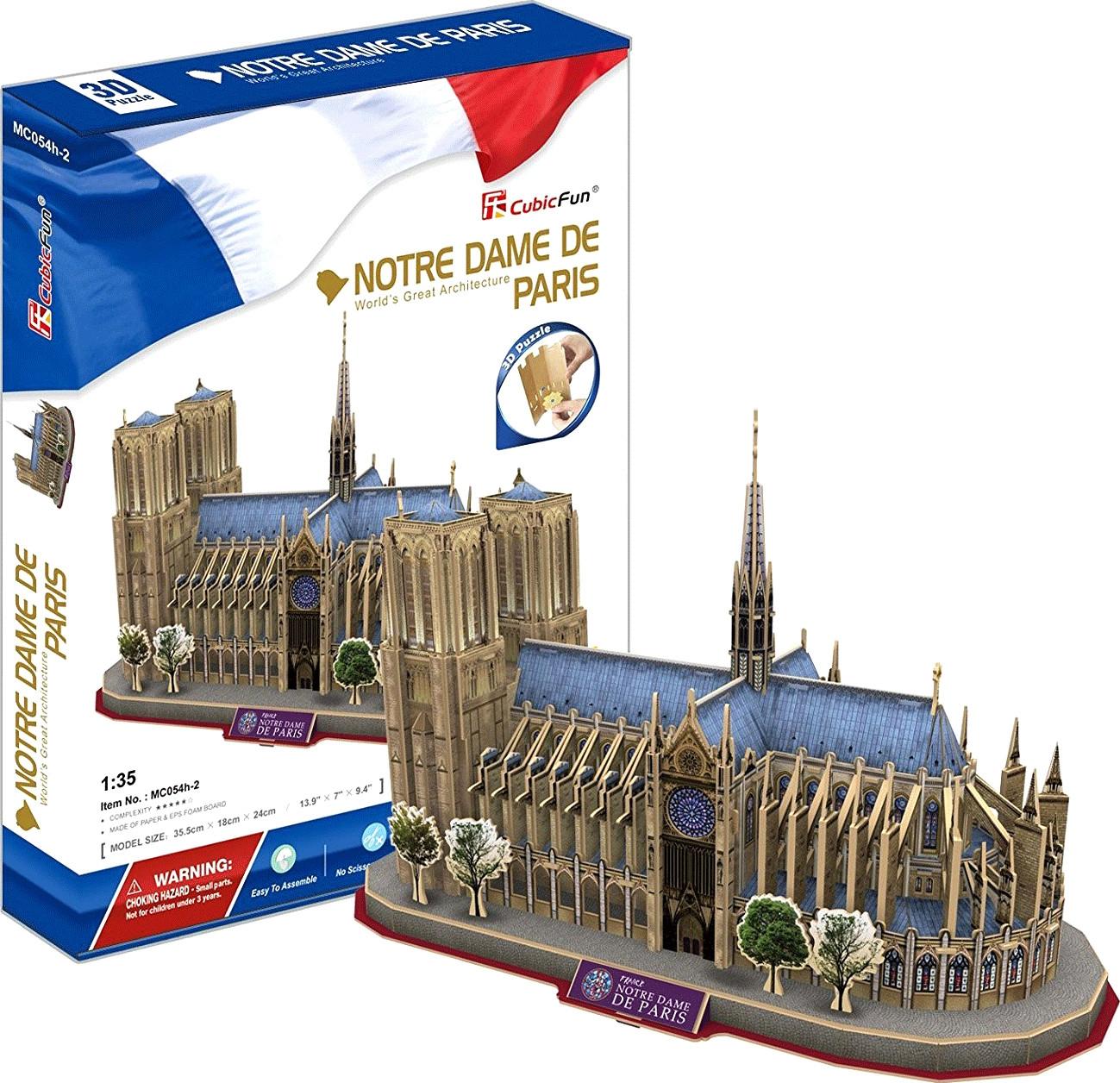 Puzzle 3D Cubic Fun 3D Notre-Dame de Paris