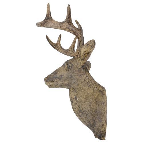 Trophée mural - Tête de cerf en résine (49 cm)