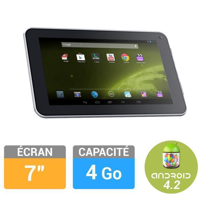 "Tablette 7"" Logicom S732  (Dual core, 512 Mo Ram, 4 Go Rom, Android 4.2)  - reconditionnée Garantie 1 an"