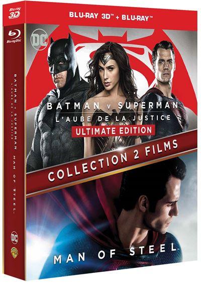 Coffret 2 Films Bluray 3D + Bluray : Batman vs Superman & Man of Steel