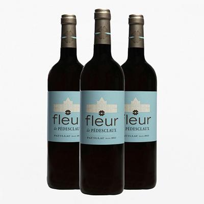 3 Bouteilles de Vin Rouge Fleur de Pédesclaux 2015 - 3 x75cl