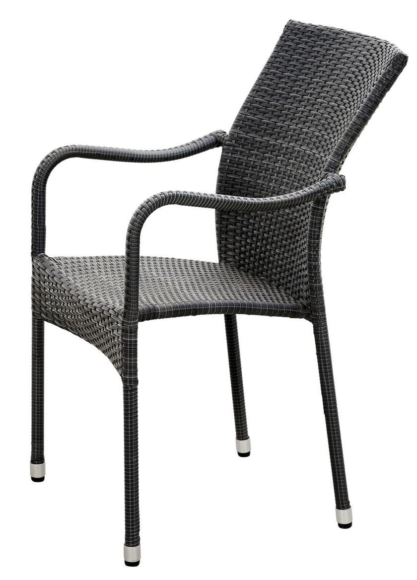 Chaise empilable Grant - Gris (H 92 x Larg. 55 x P 66 cm)