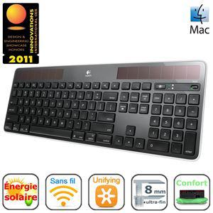 Clavier solaire Logitech K750 Black for Mac