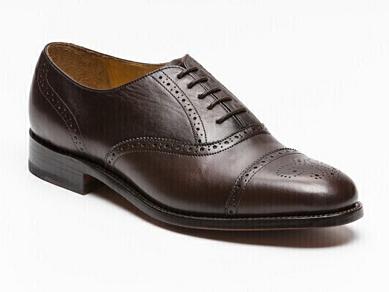 Sélection de chaussures en cuir Barker en promotion - Ex: Richelieu Gatwick cuir Marron
