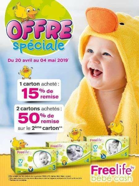 1 Carton de Couches pour enfants Freelife acheté = 15% de réduction ou 1 carton acheté = le 2ème à moitié prix - Bébé Cash Marseille (13)