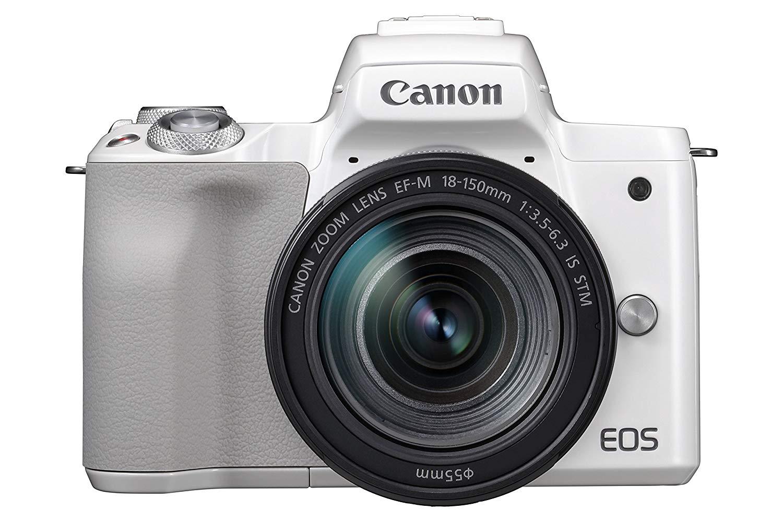 Appareil photo compact à objectif interchangeable Canon EOS M50 (24.1 Mpix, CMOS, blanc) + objectif EF-M 18-150 mm f/3.5-6.3 STM