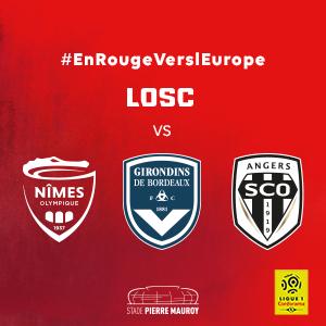 Pack de 3 places pour les matchs au Stade Pierre Mauroy  - Losc VS Nimes, Bordeaux et Angers