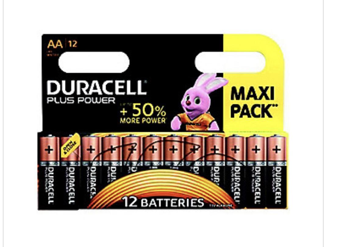 """2 Lot de 12 piles Alcalines Duracell """"Plus Power"""""""