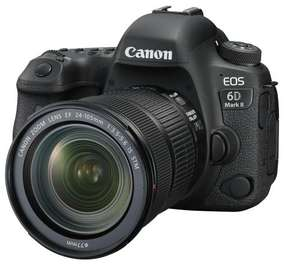 Appareil Photo Reflex Canon EOS 6D Mark II Noir + Objectif EF 24-105 mm f/3.5-5.6 IS STM (Via ODR 100€)