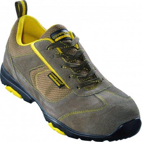Paire de chaussure de sécurité basse ASCANITE Low - Couleur kaki et jaune